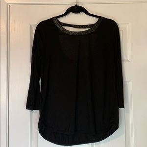 Club Monaco top with faux snake skin